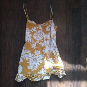 Wild Fable yellow floral tank dress!